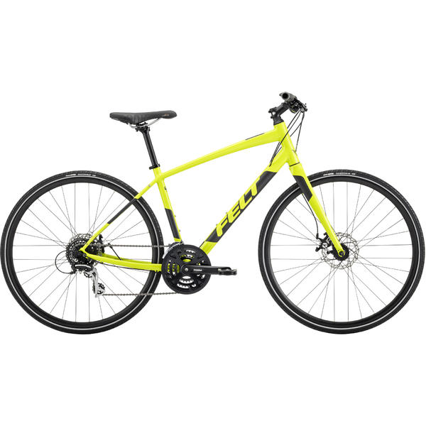 Felt Bicycles Verza Speed 40 Color: Gloss Chartreuse/Reflective Black