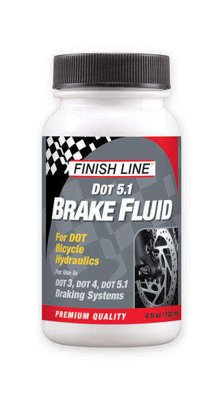Finish Line DOT 5.1 Brake Fluid (4-Ounce Bottle)
