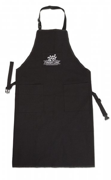 Finish Line Shop Apron Color: Black