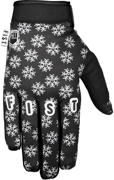 Fist Handwear Frosty Fingers Cold Weather - Black Snowflake Glove Color: Black/White Snowflake