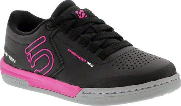 Five Ten Freerider Pro Women's Mountain Bike Shoe Color: Black/Clear Onix/Shock Pink