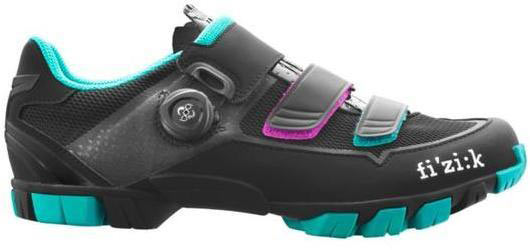Fizik M6B Donna Boa Color: Black/Anthracite/Emerald Green