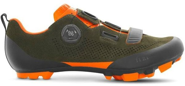 Fizik Terra X5 Suede Color: Military Green/Orange