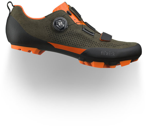 Fizik Terra X5 Suede Color: Suede Military Green/Orange