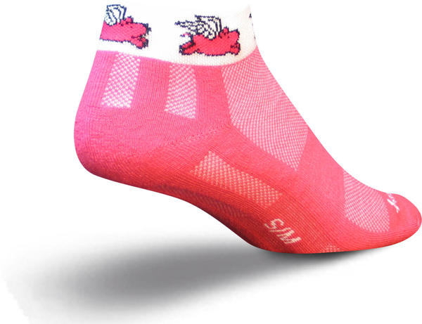 SockGuy Flying Pig Socks - Women's Color: Pink