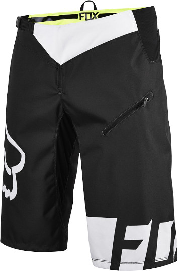 Fox Racing Demo DH Shorts Color: Black/White