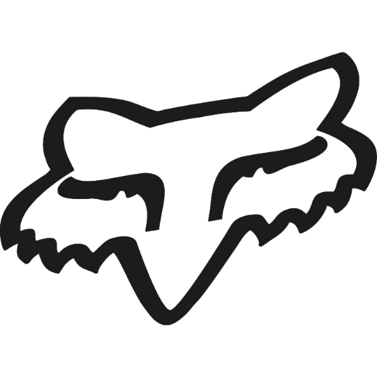 Fox Racing Foxhead TDC Sticker - 2 Inch Color: Black
