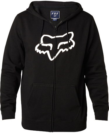 Fox Racing Legacy Foxhead Zip Hoody Color: Black