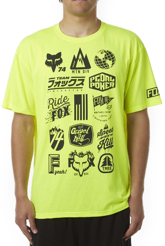Fox Racing Mtn Division Tech Tee Color: Fluorescent Yellow
