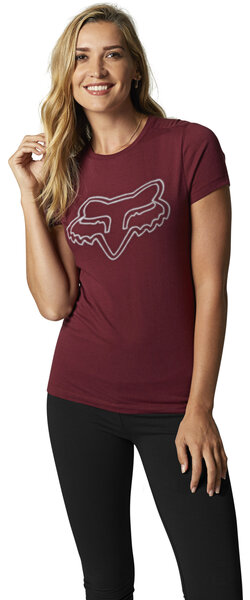 Fox Racing Afterglow Tee Color: Cranberry