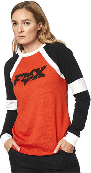 Fox Racing All Time Long Sleeve Top Color: Atomic Orange