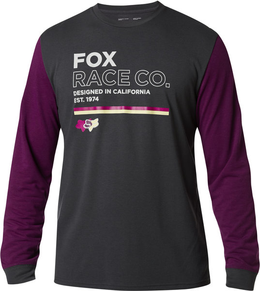 Fox Racing Analog Long-Sleeve Tech Tee Color: Black Vintage
