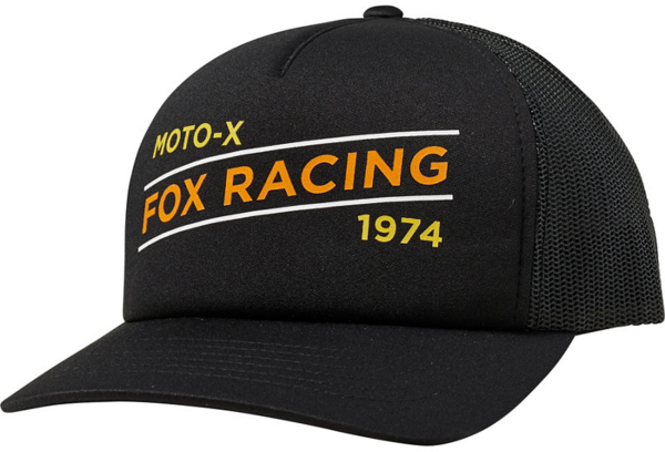 Fox Racing Banner Trucker Hat Color: Black