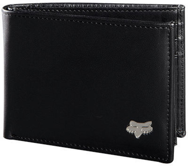 Fox Racing Bifold Leather Wallet Color: Black