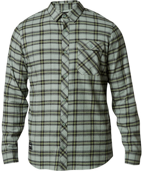 Fox Racing Boedi Long-Sleeve Flannel Color: Eucalyptus