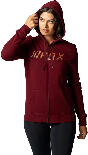 Fox Racing Break Check Zip Hoodie Color: Cranberry