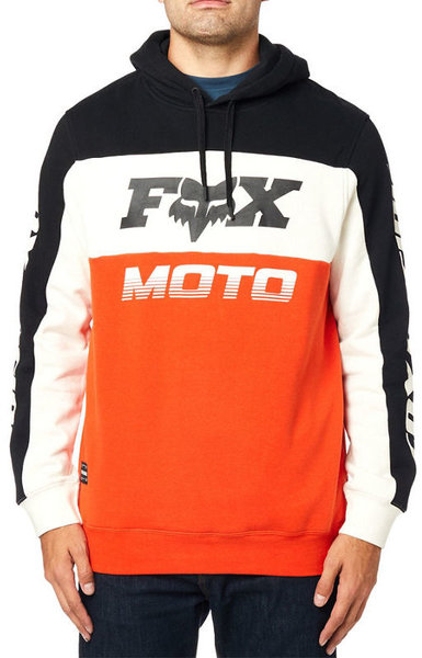 Fox Racing Charger Pullover Hoodie Color: Black/Orange