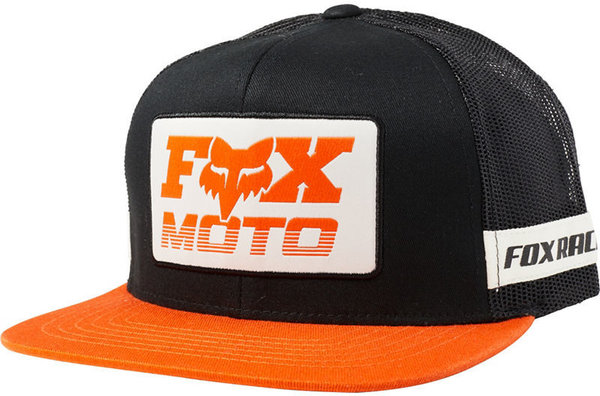Fox Racing Charger Snapback Hat Color: Black/Orange