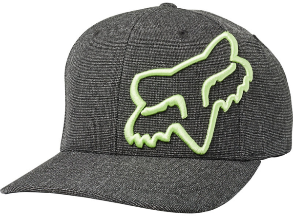 Fox Racing Clouded Flexfit Hat Color: Black/Green