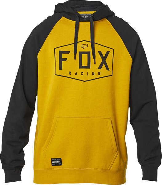 Fox Racing Crest Pullover Hoodie Color: Mustard