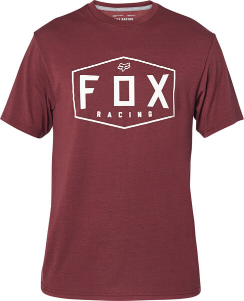 Fox Racing Crest Tech Tee Color: Cranberry