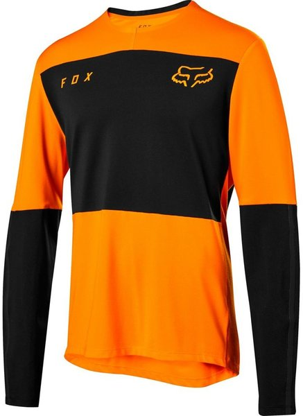 Fox Racing Defend Delta Long Sleeve Jersey Color: Atomic Orange