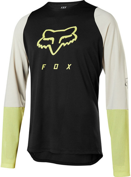 Fox Racing Defend Long-Sleeve Fox Head Jersey Color: Black/Yellow