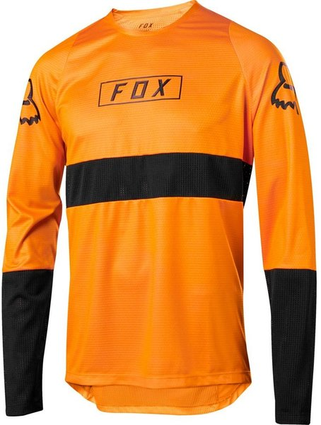 Fox Racing Defend Long Sleeve Fox Jersey Color: Atomic Orange