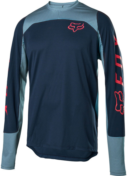 Fox Racing Defend Long-Sleeve Jersey Color: Navy