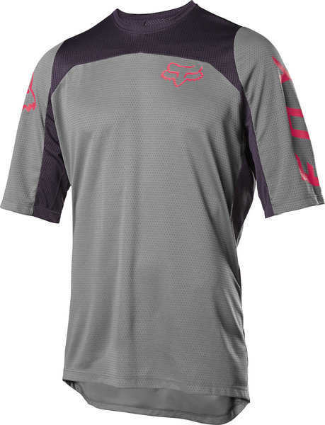 Fox Racing Defend Short Sleeve Fast Jersey Color: Pewter