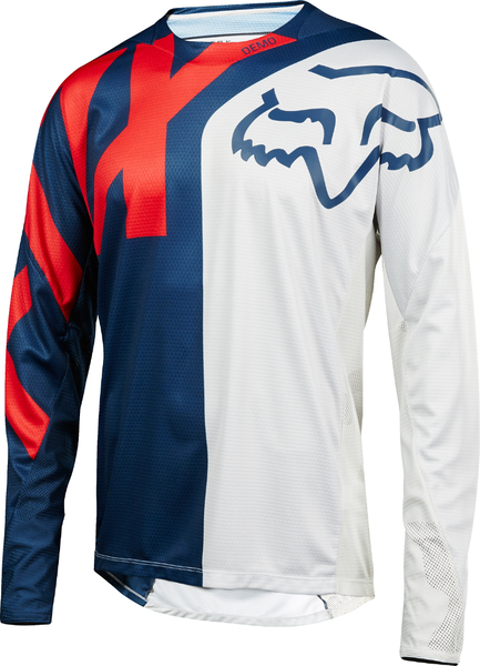 Fox Racing Demo Long Sleeve Preme Jersey Color: Blue/Red