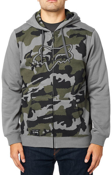 Fox Racing Destrakt Camo Zip Hoodie Color: Grey Camo
