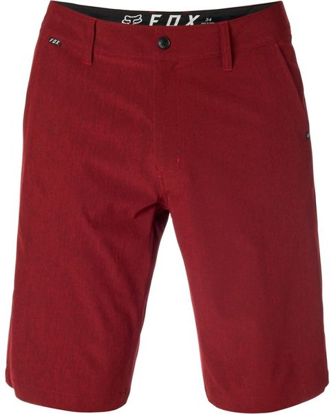 Fox Racing Essex Tech Stretch Short Color: Heather Red