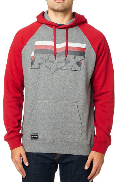 Fox Racing Far Out Raglan Pullover Hoodie Color: Heather Black