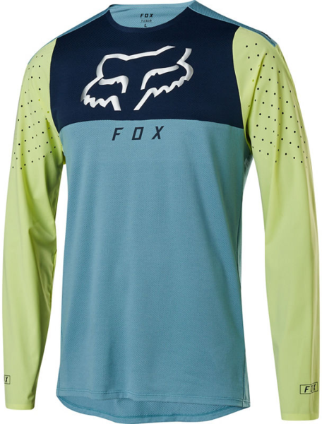 Fox Racing Flexair Delta Long-Sleeve Jersey Color: Light Blue