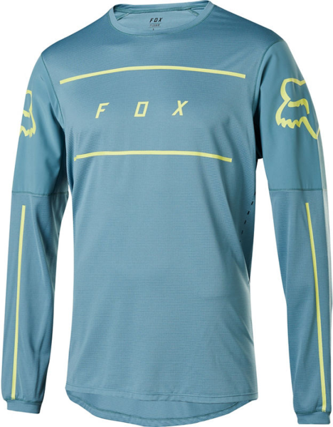 Fox Racing Flexair Long-Sleeve Fine Line Jersey Color: Light Blue