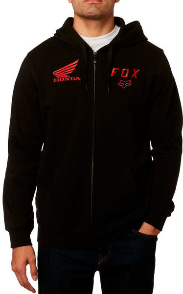 Fox Racing Fox Honda Zip Fleece Color: Black