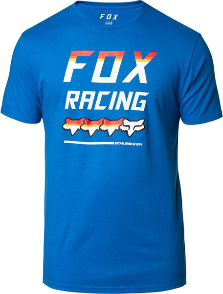 Fox Racing Full Count Short Sleeve Premium Tee Color: Royal Blue