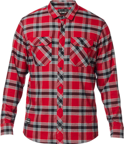 Fox Racing Fusion Tech Flannel Color: Cardinal