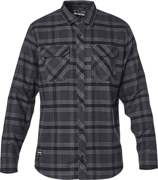 Fox Racing Fusion Tech Flannel Color: Black Vintage