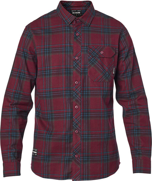 Fox Racing Gamut Stretch Flannel Color: Cranberry