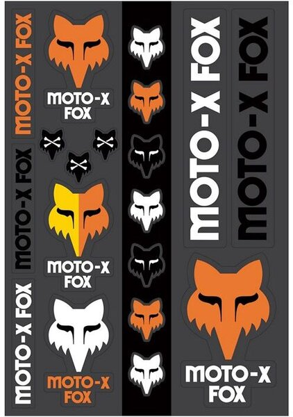Fox Racing Heritage Track Pack Stickers
