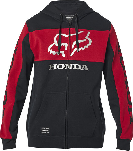 Fox Racing Honda Zip Hoodie Color: Black/Red