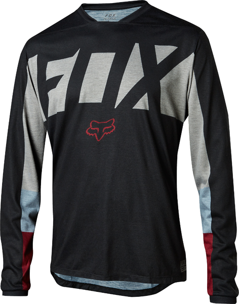 Fox Racing Indicator Long Sleeve Drafter Jersey Color: Black