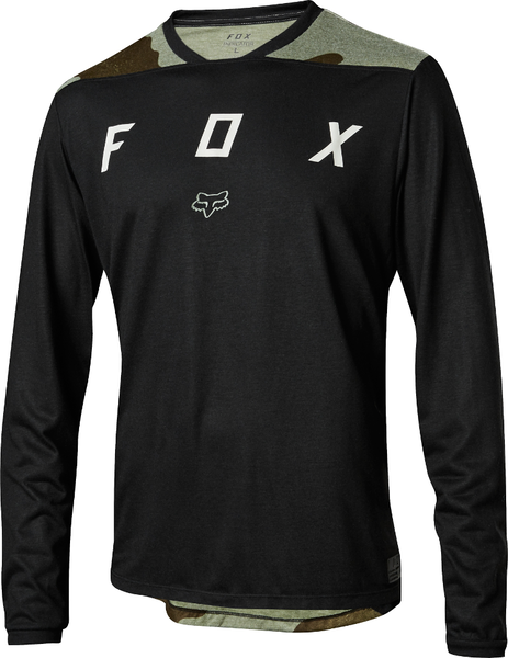Fox Racing Indicator Long Sleeve Mash Camo Jersey Color: Black