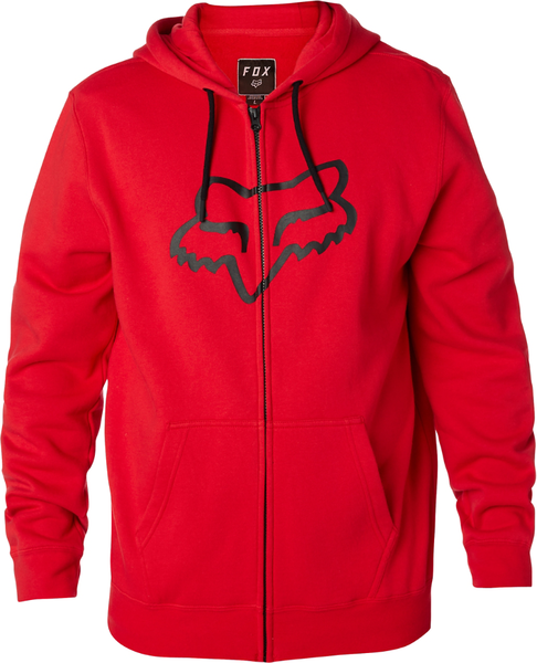 Fox Racing Legacy Foxhead Zip Hoodie Color: Dark Red