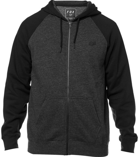 Fox Racing Legacy Zip Hoodie Color: Black/Charcoal