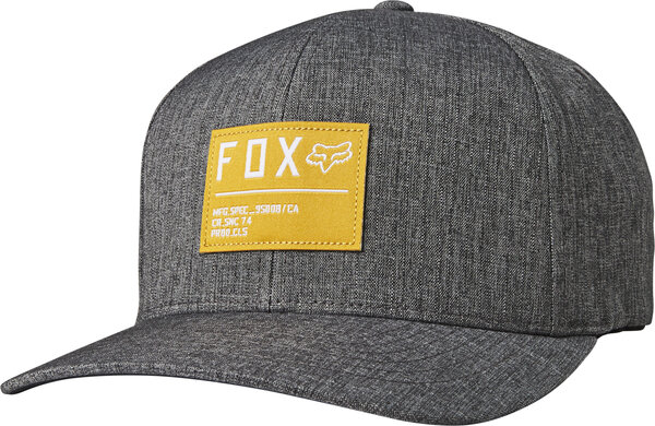 Fox Racing Non Stop Flexfit Hat Color: Black/Yellow