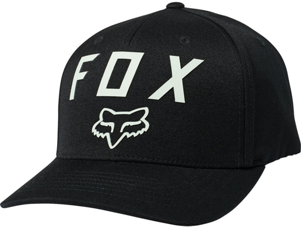 Fox Racing Number 2 Flexfit Hat Color: Black/Green