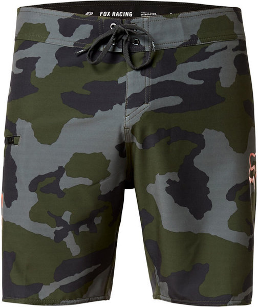 Fox Racing Overhead Camo Stretch Boardshorts 18-inch Color: Green Camo